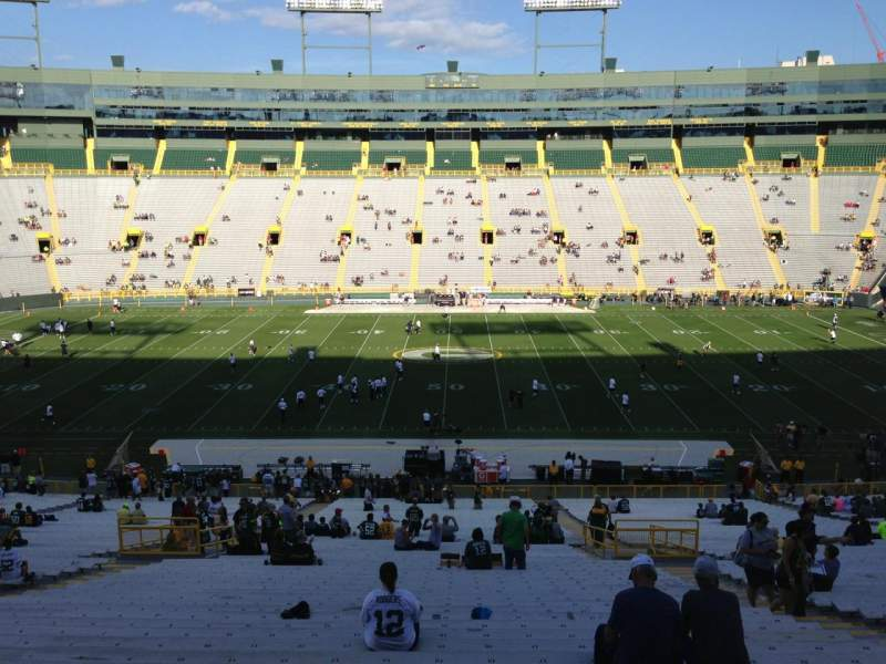 Seating view for Lambeau Field Section 120 Row 58 Seat 16