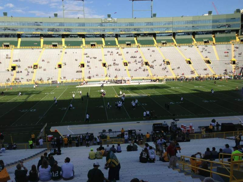Seating view for Lambeau Field Section 118 Row 40 Seat 10
