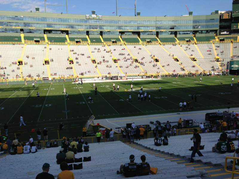 Seating view for Lambeau Field Section 116 Row 32 Seat 7