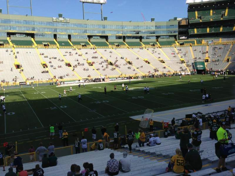 Seating view for Lambeau Field Section 114 Row 25 Seat 10