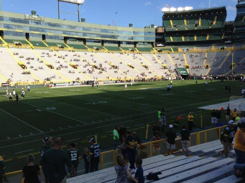 Seating view for Lambeau Field Section 112 Row 13 Seat 17
