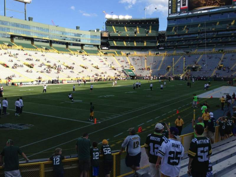 Seating view for Lambeau Field Section 110 Row 7 Seat 6