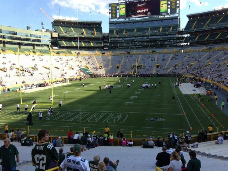 Seating view for Lambeau Field Section 104 Row 30 Seat 35