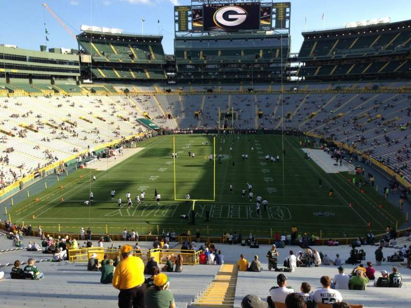 Seating view for Lambeau Field Section 102 Row 59 Seat 24