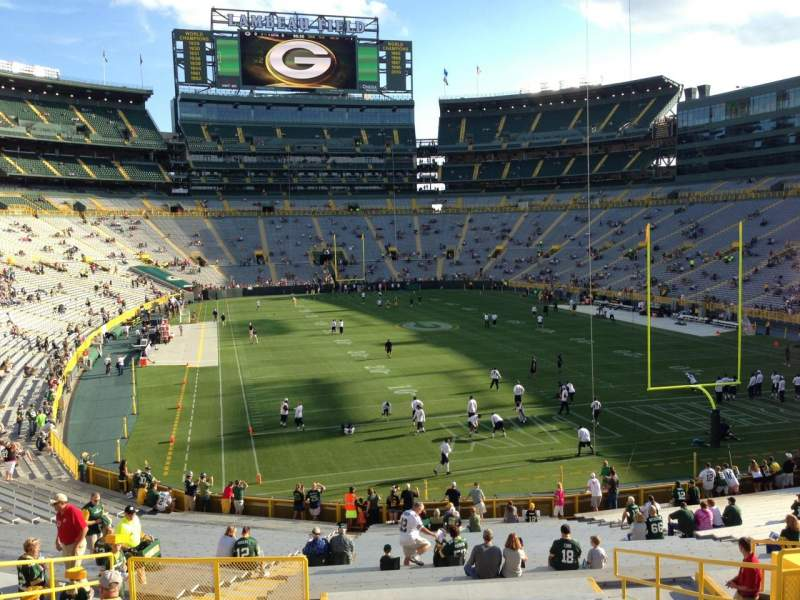 Seating view for Lambeau Field Section 103 Row 38 Seat 18