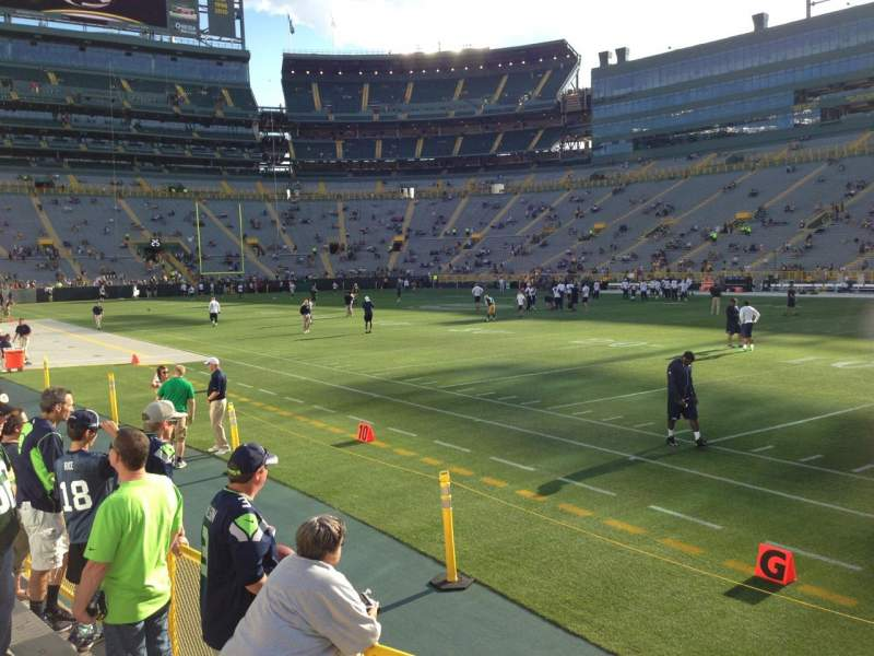 Seating view for Lambeau Field Section 109 Row 4 Seat 5