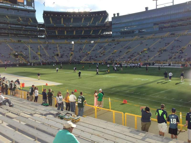 Seating view for Lambeau Field Section 111 Row 12 Seat 17