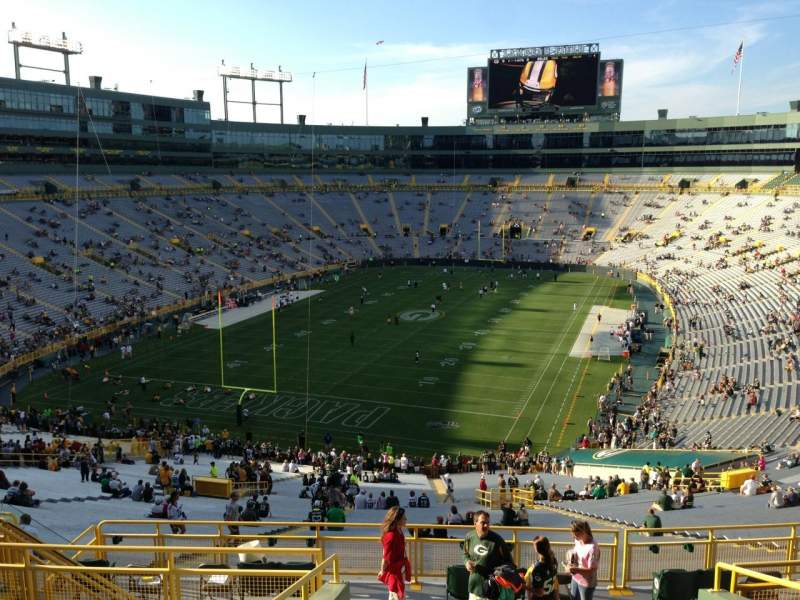 Seating view for Lambeau Field Section 349 Row 9 Seat 15
