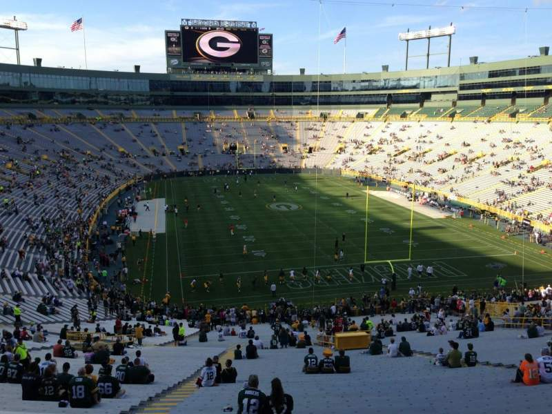 Seating view for Lambeau Field Section 350 Row 1 Seat 5