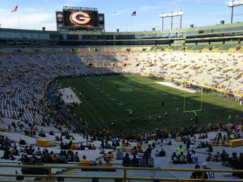 Seating view for Lambeau Field Section 348 Row 2 Seat 1