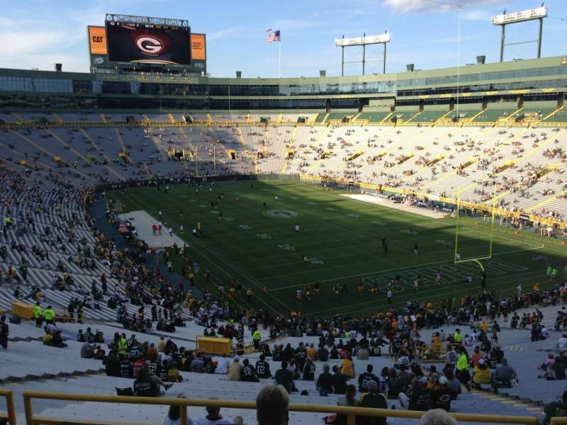 Seating view for Lambeau Field Section 346 Row 2 Seat 4