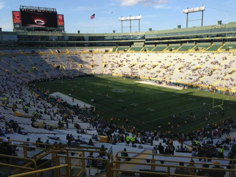 Seating view for Lambeau Field Section 342 Row 9 Seat 4