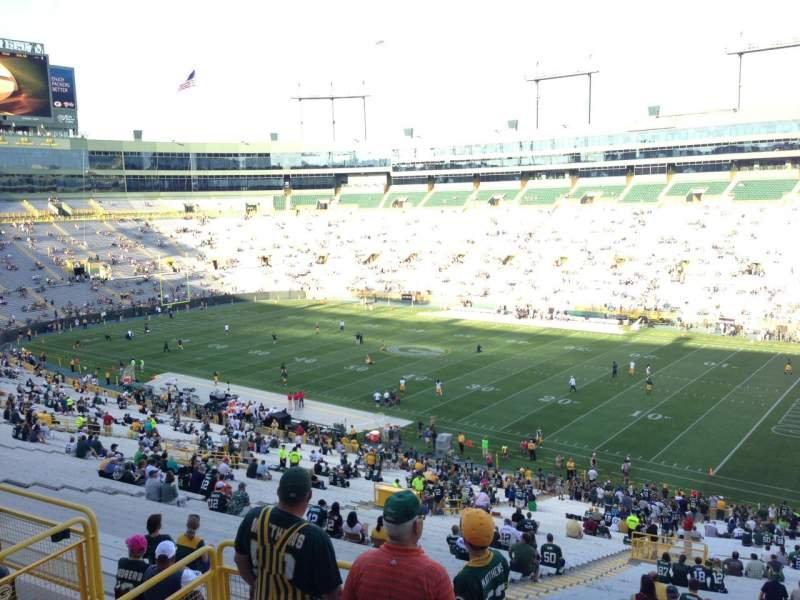 Seating view for Lambeau Field Section 334 Row 2 Seat 10