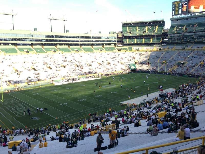 Seating view for Lambeau Field Section 314 Row 1 Seat 1