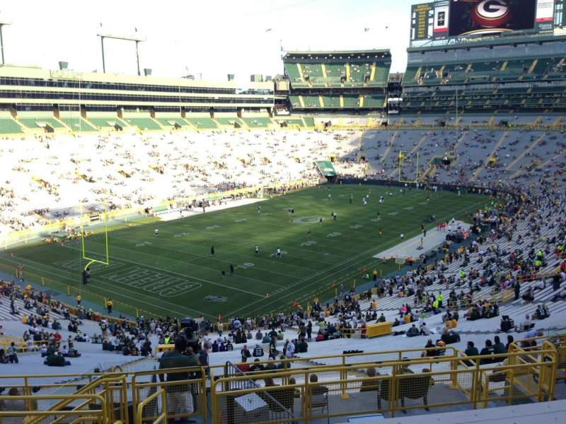 Seating view for Lambeau Field Section 310 Row 9 Seat 2