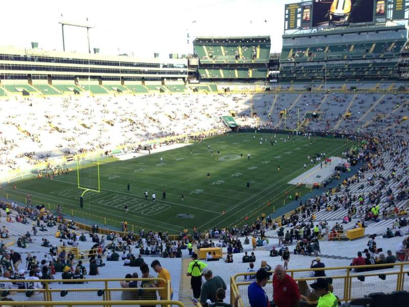 Seating view for Lambeau Field Section 308 Row 6 Seat 17