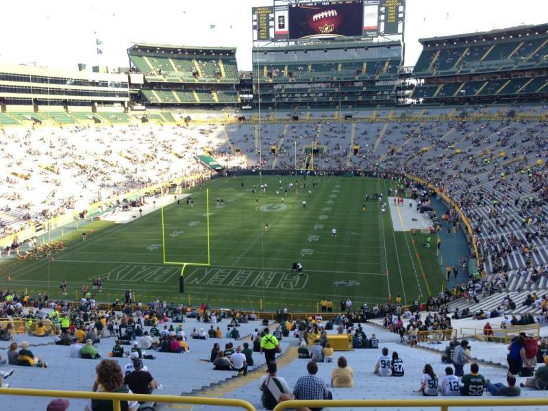 Seating view for Lambeau Field Section 304 Row 1 Seat 30