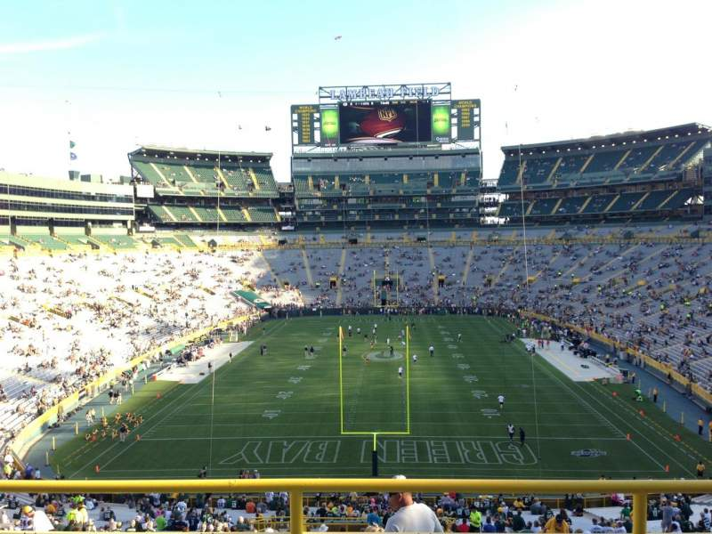 Seating view for Lambeau Field Section 300 Row 1 Seat 6