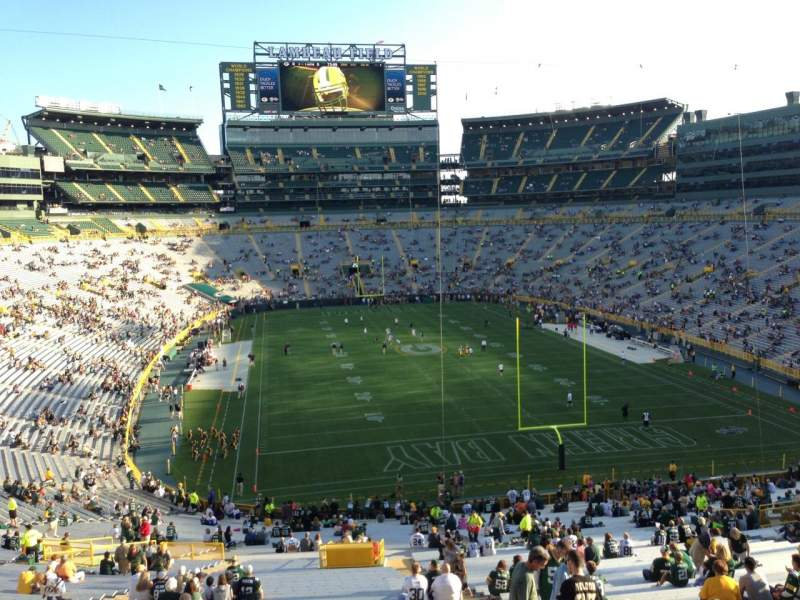 Seating view for Lambeau Field Section 303 Row 1 Seat 29