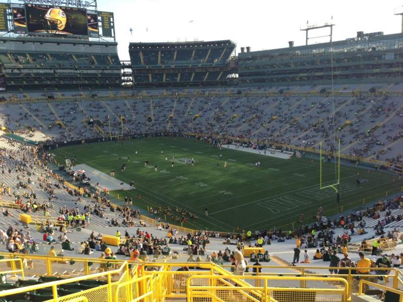 Lambeau Field, section: 403, row: 9, seat: 3