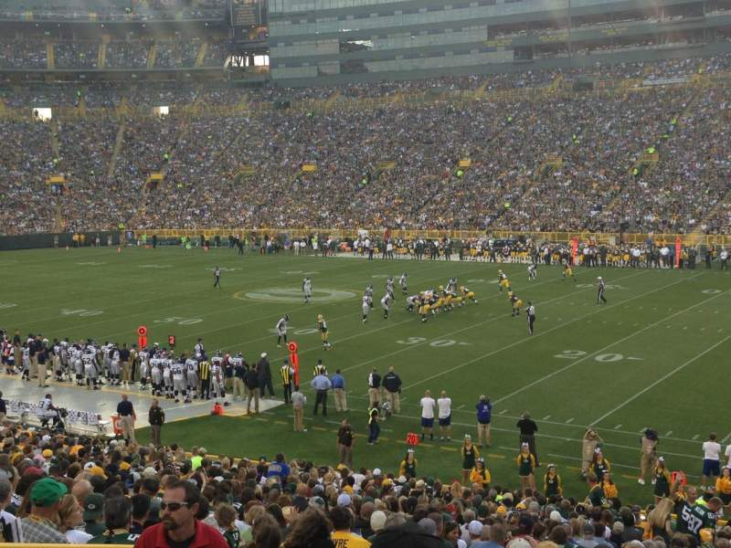 Seating view for Lambeau Field Section 111 Row 32 Seat 3