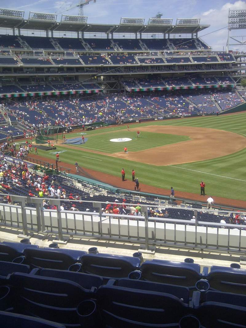 Seating view for Nationals Park Section 225 Row D Seat 5