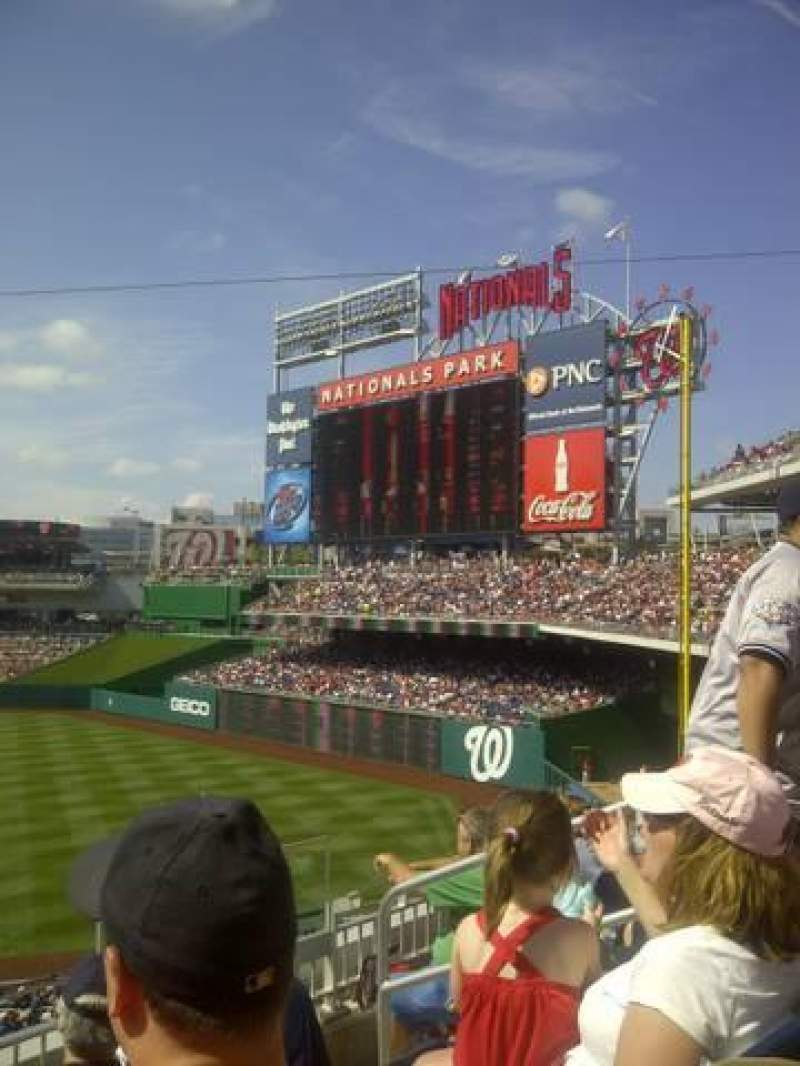 Seating view for Nationals Park Section 225 Row D Seat 6