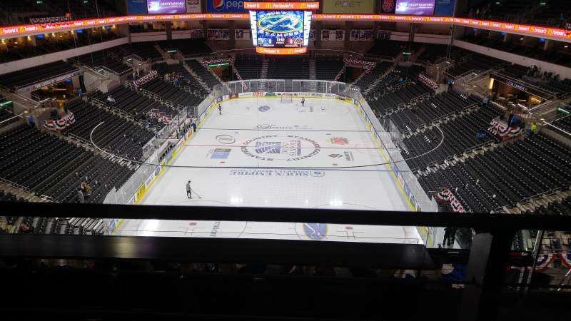 Seating view for Denny Sanford Premier Center Section 210 Row G Seat 2