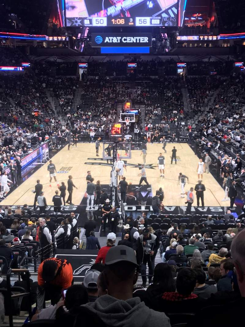 Seating view for AT&T Center Section 128 Row 28 Seat 18