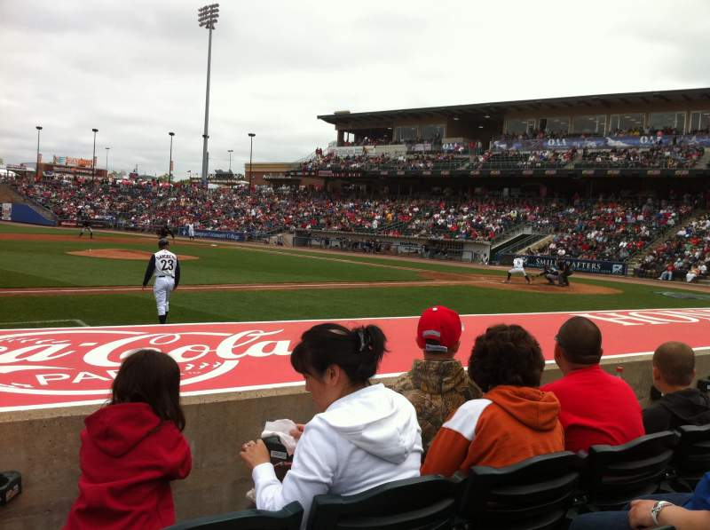 Seating view for Coca-Cola Park Section 117 Row G Seat 19