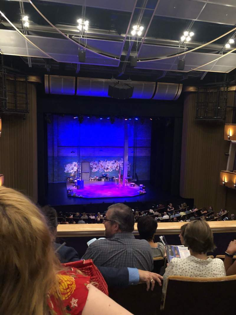 Seating view for Ahmanson Theatre Section Mezzanine Row D Seat 34