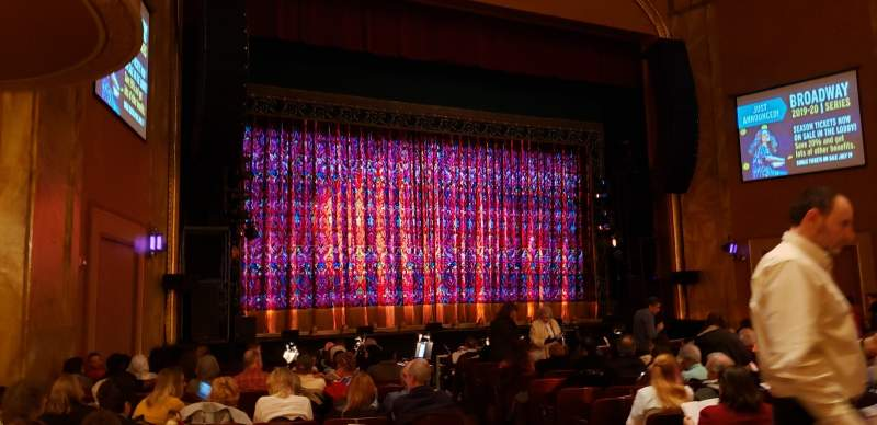 Seating view for State Theatre New Jersey Section ORCH left Row P Seat 5-7