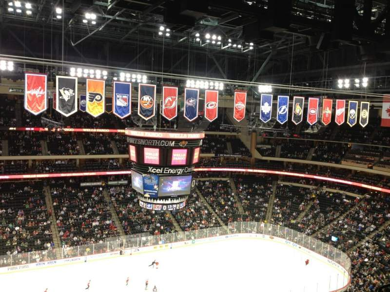 Seating view for Xcel Energy Center Section 221 Row 8 Seat 11