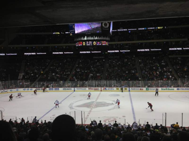 Seating view for Xcel Energy Center Section 116