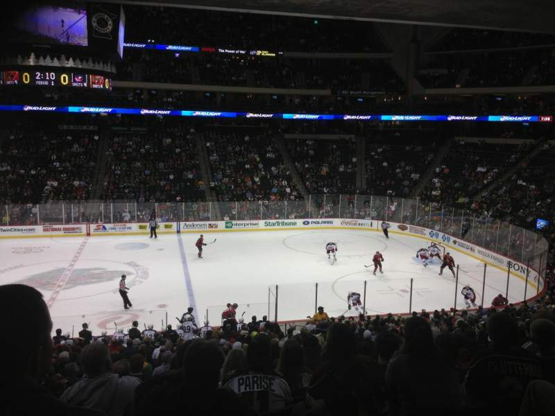 Seating view for Xcel Energy Center