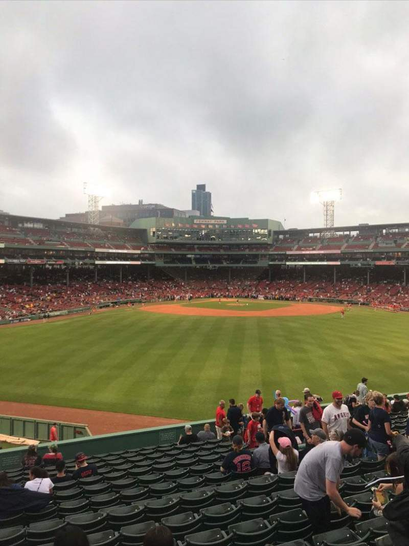 Seating view for Fenway Park Section Bleacher 37 Row 13