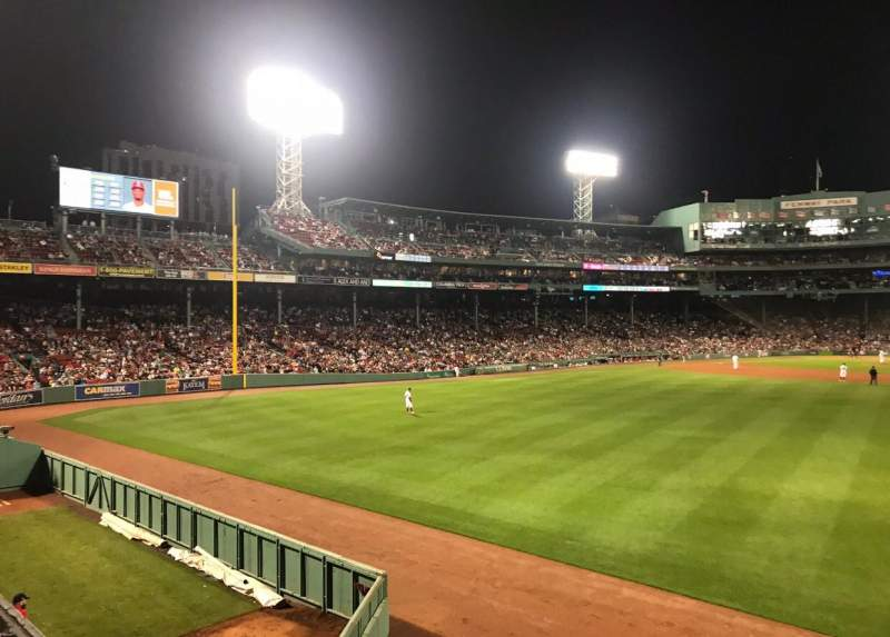 Seating view for Fenway Park Section Bleacher 41 Row 5