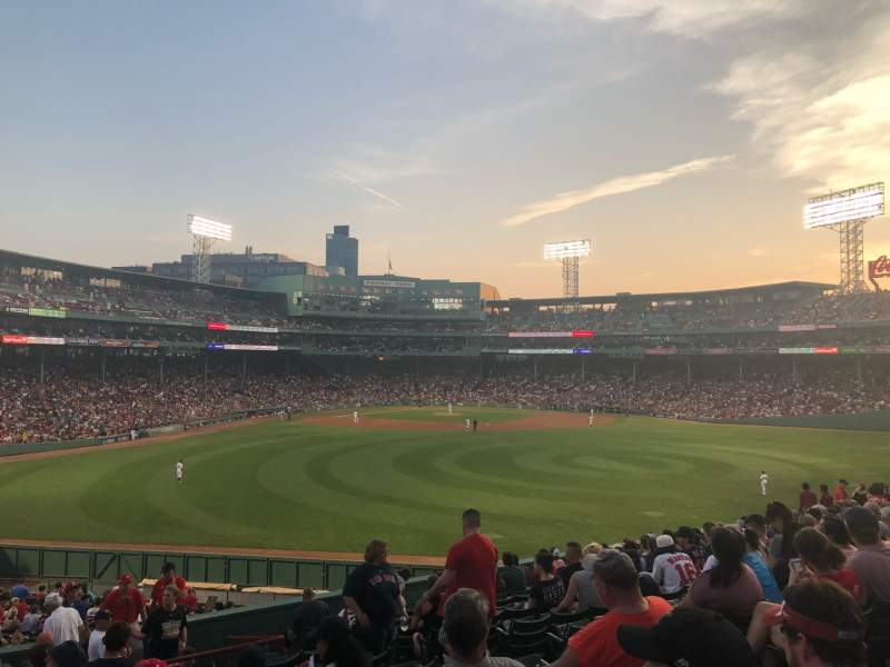 Seating view for Fenway Park Section Bleacher 38 Row 16 Seat 6