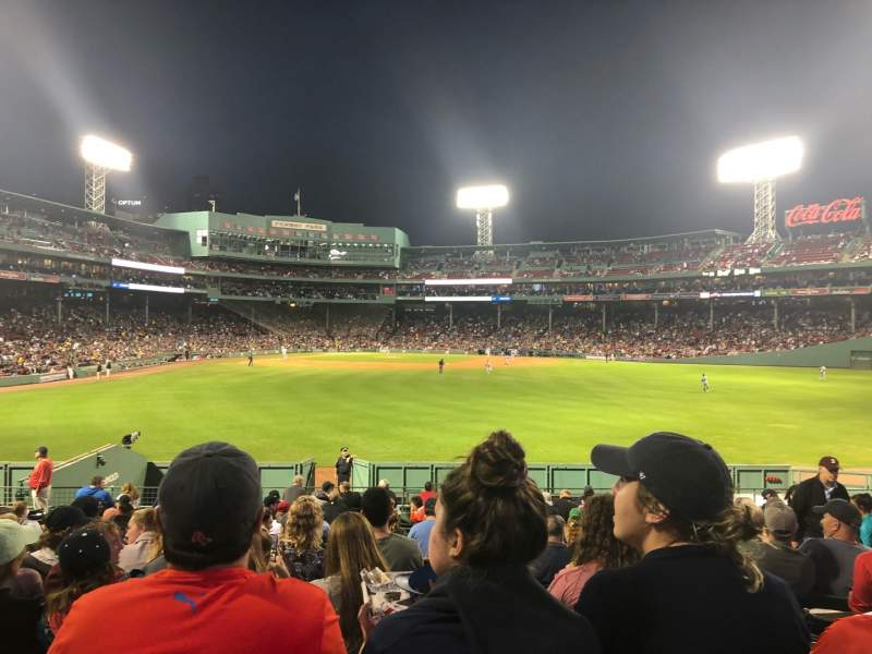 Seating view for Fenway Park Section Bleacher 41 Row 20 Seat 7