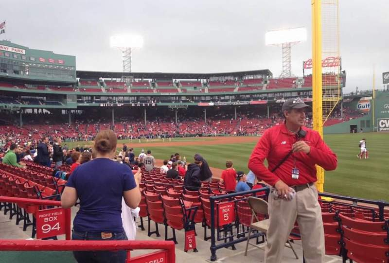 Seating view for Fenway Park Section Right Field Box