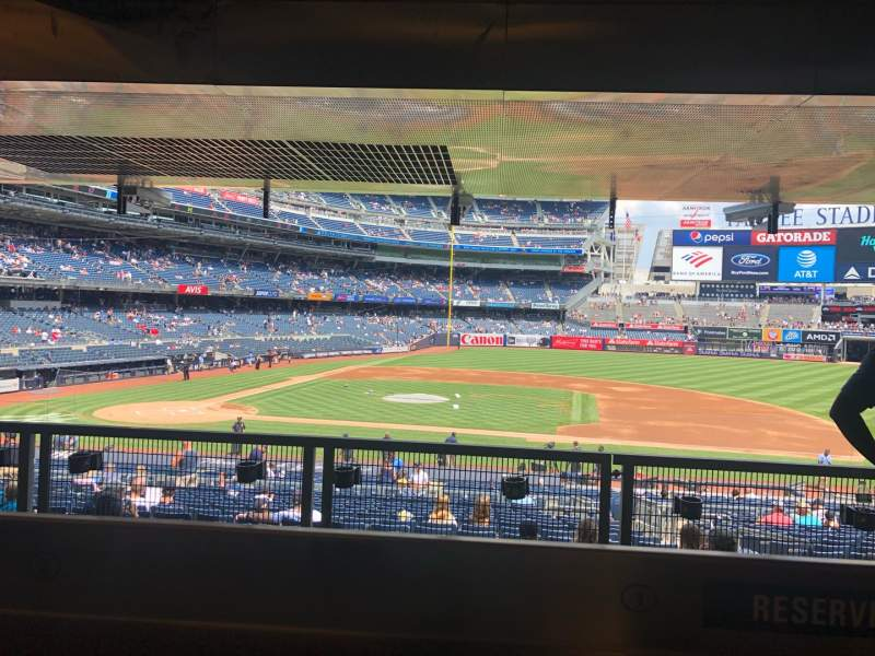 Seating view for Yankee Stadium Section 116 Row Reserved Seat 1