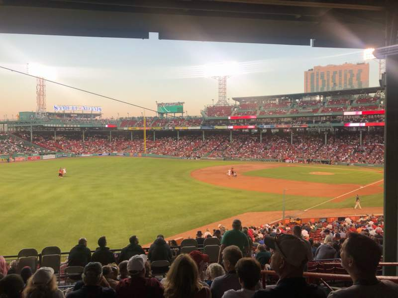 Seating view for Fenway Park Section Grandstand 32 Row 10 Seat 9