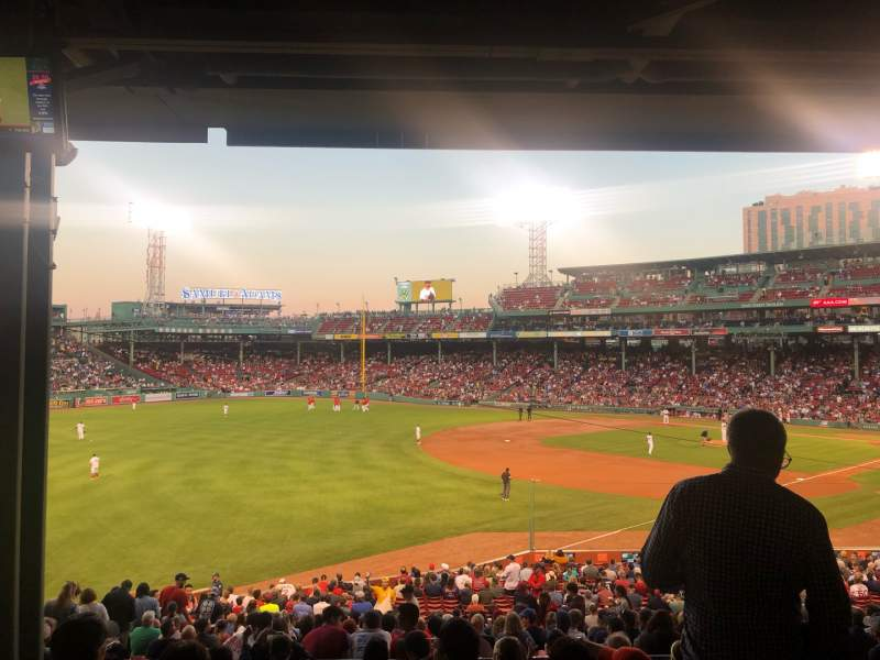 Seating view for Fenway Park Section Grandstand 31 Row 10 Seat 19