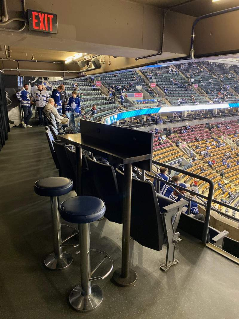 Seating view for Scotiabank Arena Section Molson Row 1 Seat 16-17