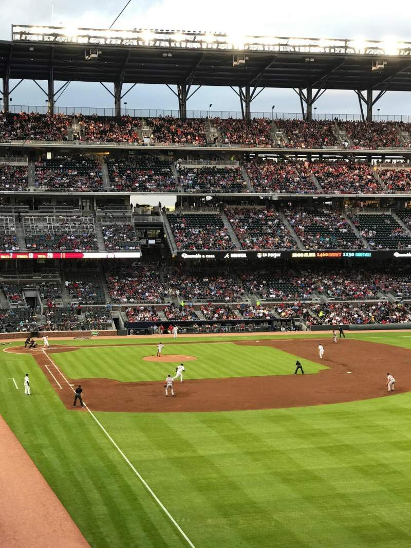 Seating view for SunTrust Park Section 210 Row 5 Seat 2