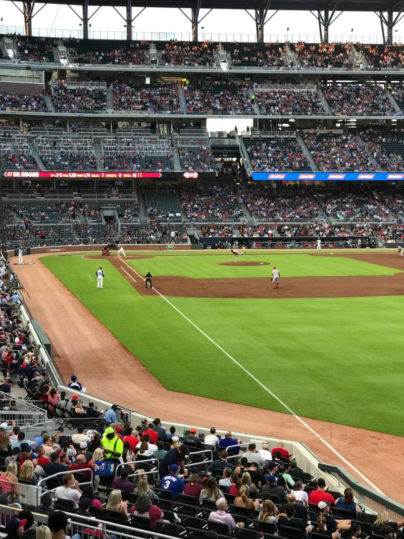 Seating view for SunTrust Park Section 108 Row 10 Seat 8