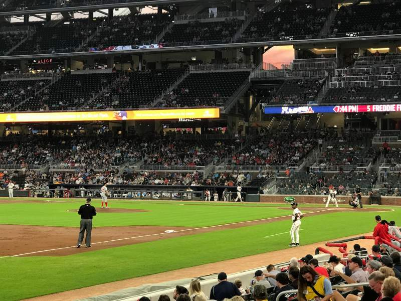 SunTrust Park, section: 38, row: 10, seat: 5