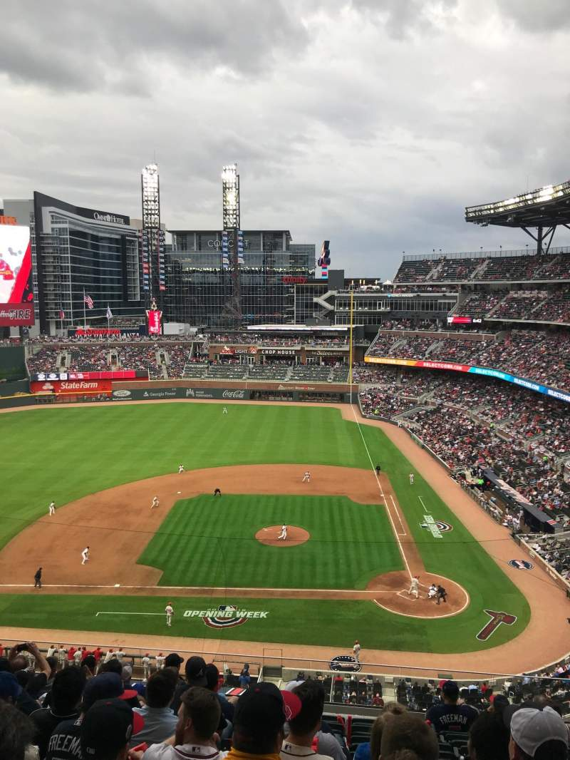 Seating view for SunTrust Park Section 330 Row 10 Seat 12