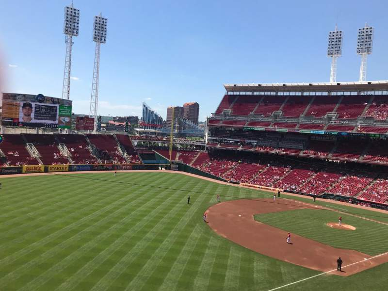 Seating view for Great American Ball Park Section 412 Row C Seat 4