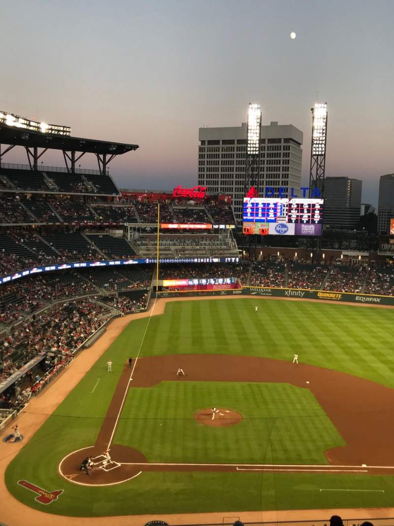 Seating view for SunTrust Park Section 322 Row 10 Seat 18